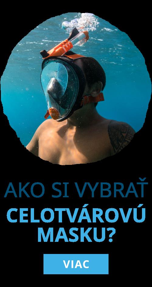 Kvalitná celotvárová maska na šnorchlovanie