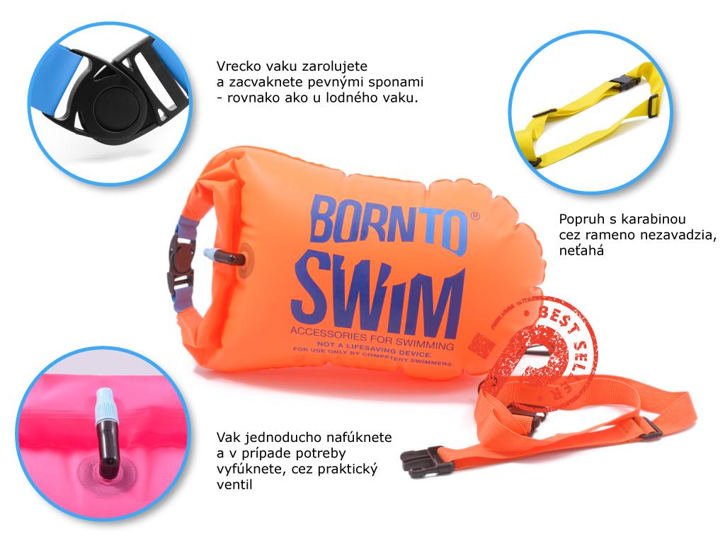 reflexný plavák pre orinetačné a zimné plávanie, s vreckom na kľúče a popruhom v obchode Plutvy.sk