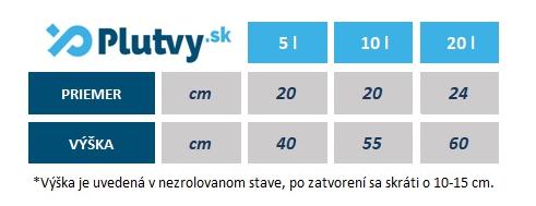 suchý vak Ocean Pack, rozmery, veľkosti, v obchode Plutvy.sk