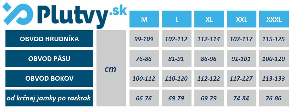 Rozmery neoprenu Agama Funky 3mm Plutvy.sk