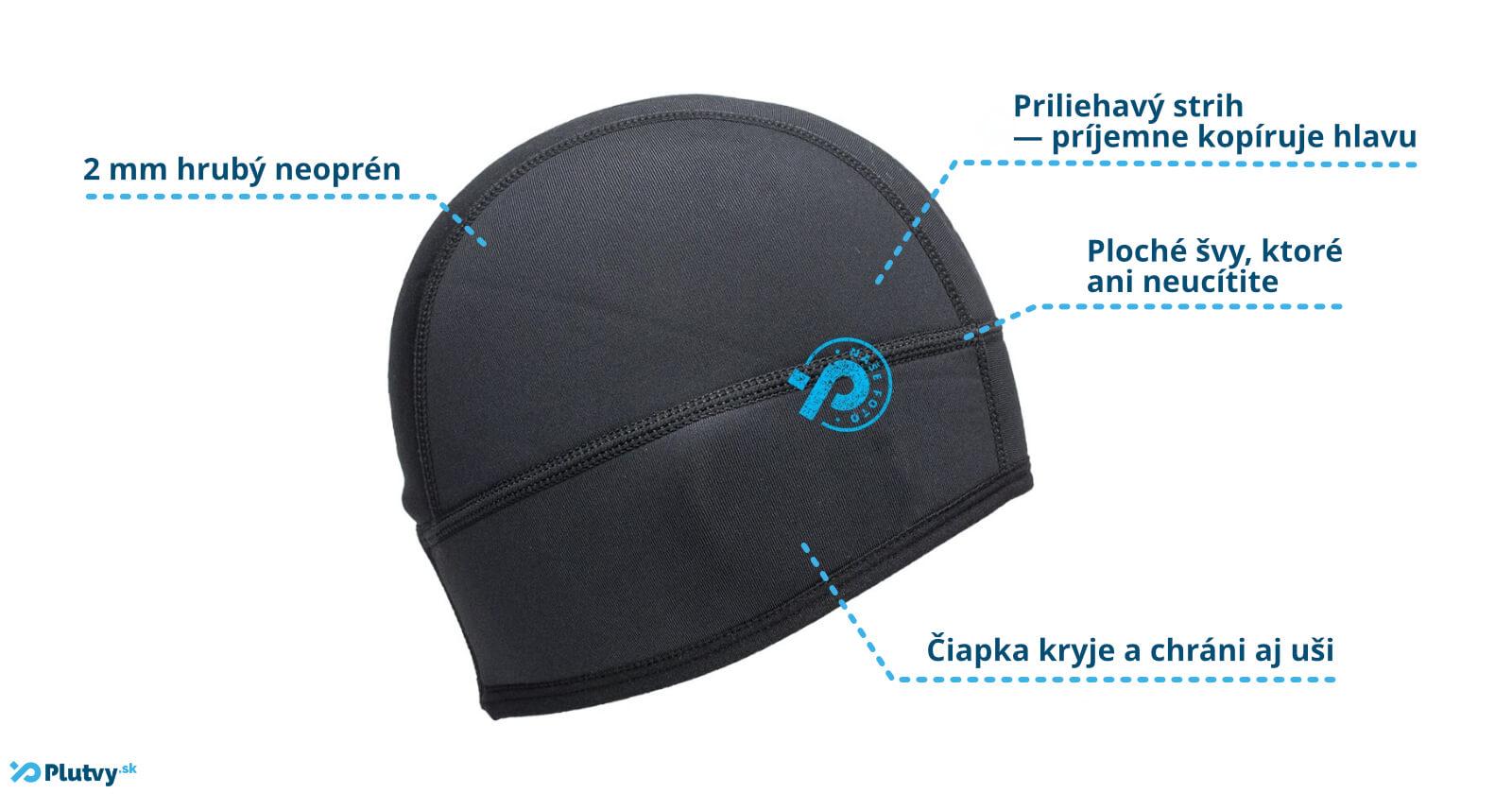 Unisex neoprénová čiapka pre športovcov Agama Wind, v Plutvy.sk