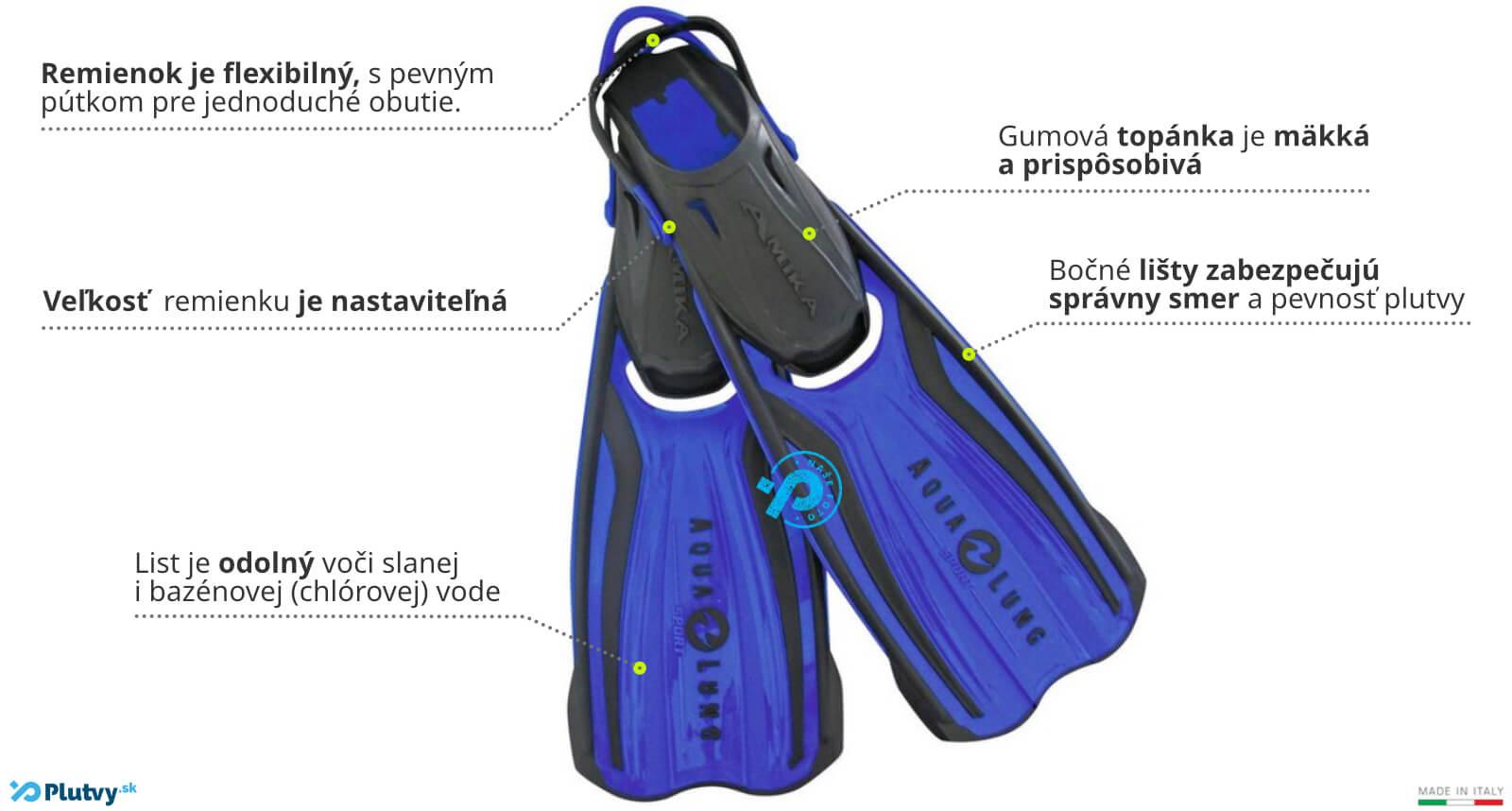 remienkové plutvy pre deti, Aqualung Amika, v obchode Plutvy.sk