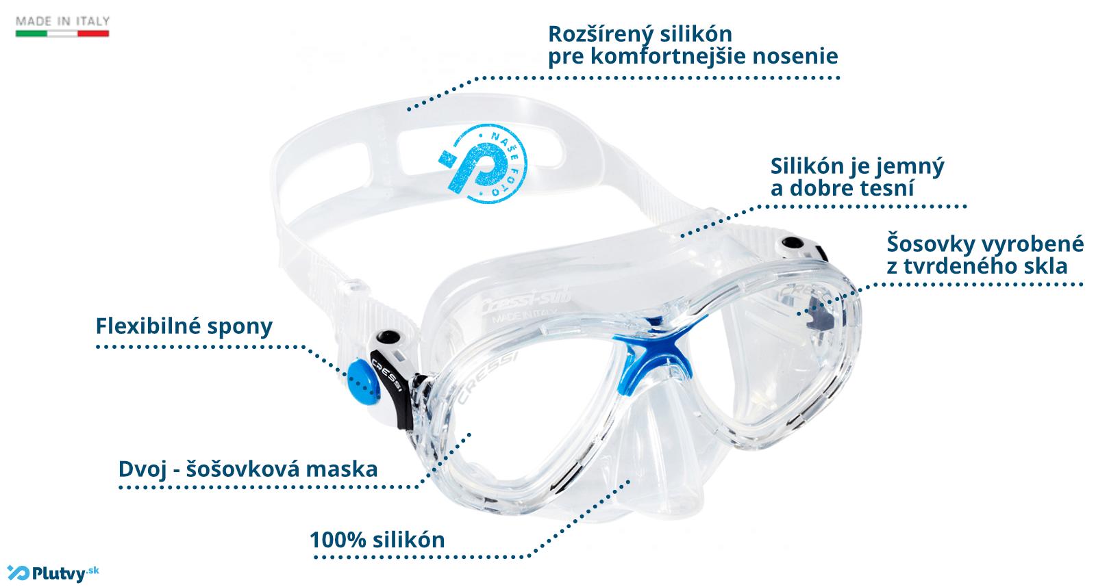 Cressi Marea Junior detská potápačska maska na šnorchlovanie