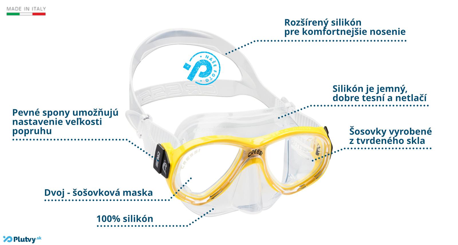 Cressi Perla junior potápačská maska pre deti od 4 rokov