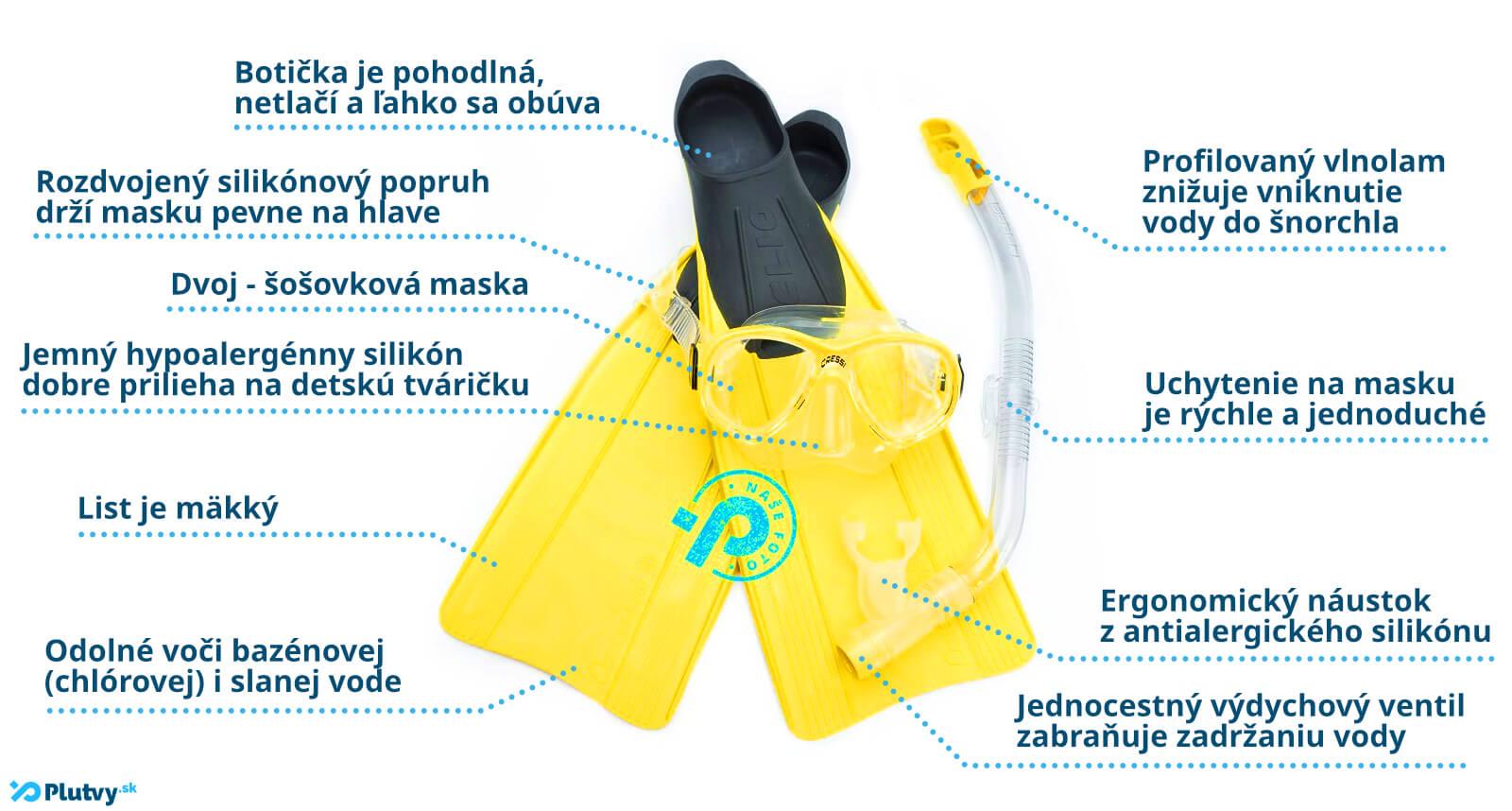 kompletné potápačské ABC pre malé deti, v obchode Plutvy.sk