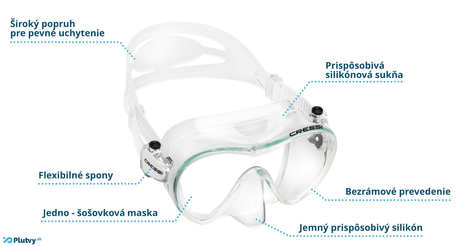 špičková potápačská maska na šnorchlovanie a potápanie cressi f1