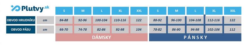 tabuľka veľkostí teplý pulover Hiko Teddy, v e-shope Plutvy.sk
