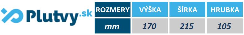 Tabuľka rozmerov dosky Speedo Pullbuoy od PLUTVY.sk