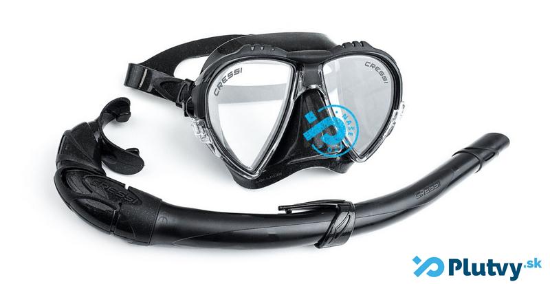 spearfishingová maska a šnorchel na lov rýb, Matrix Black, exkluzívne v obchode Plutvy.sk