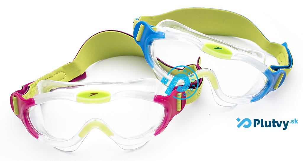 plavecká maska pre chlapcov aj dievčatá, Speedo Sea Squad ružová a modrá, v obchode Plutvy.sk