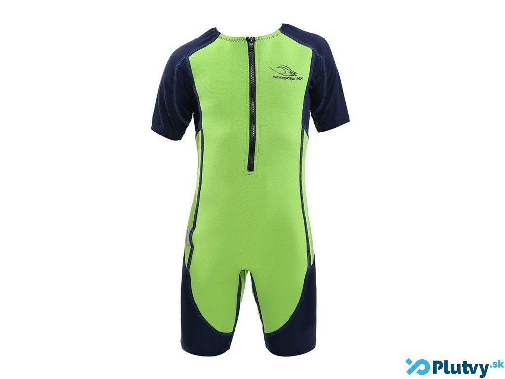 detsky oblek na plavanie stingray zeleny