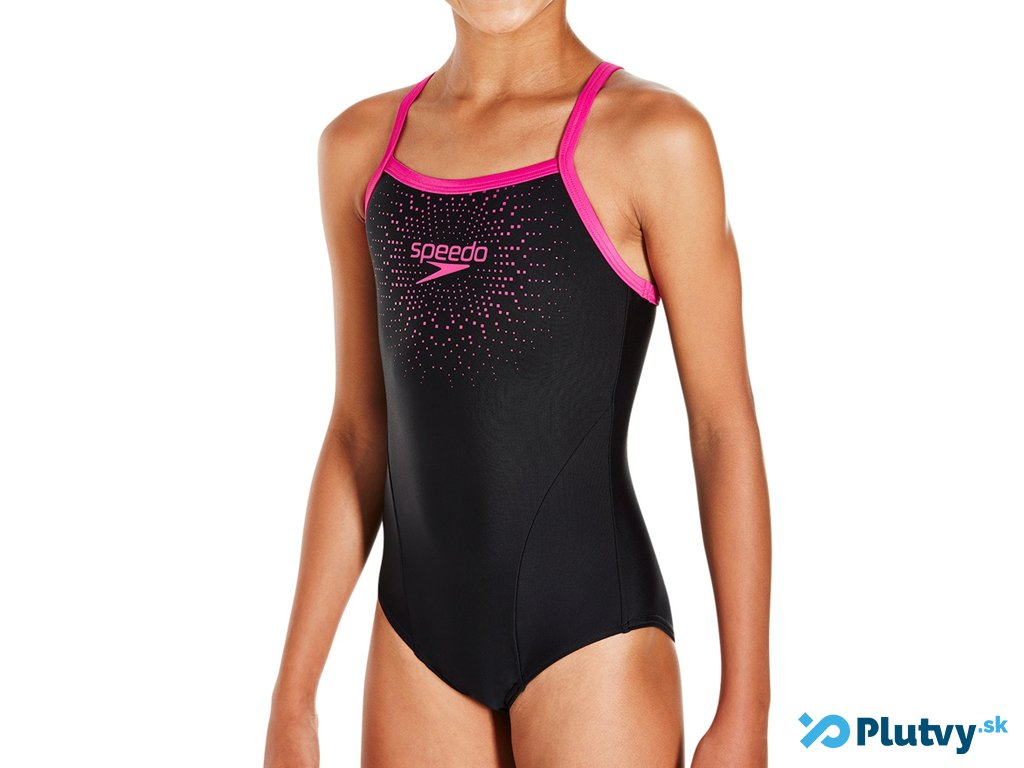 db2356306 Dievčenské plavky Speedo Gala Logo Thinstrap Muscleback - Plutvy.sk