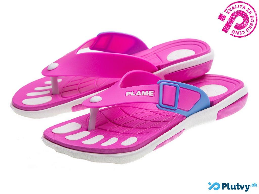 467645d8b5 damska plazova obuv ruzova letna Dámska plážová obuv Flame Comf ...