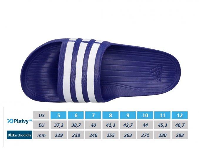 adidas duramo slide pohodlne slapky