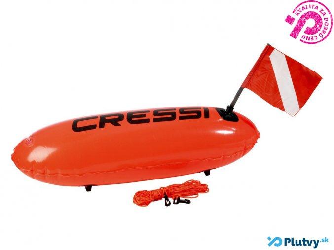 cressi torpedo boja na potápanie a plávanie, s vlajkou
