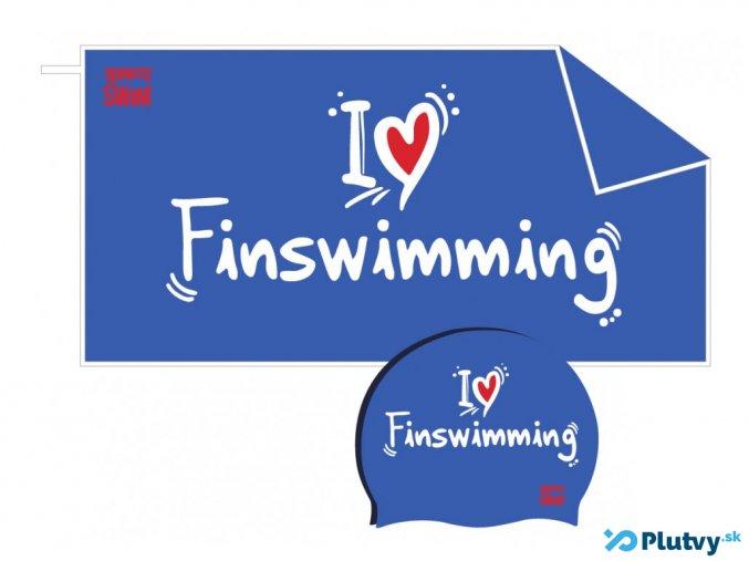 plavecky set i love finswimming modry