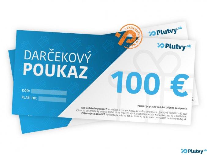 darcekovy poukaz 100 eur plutvy sk