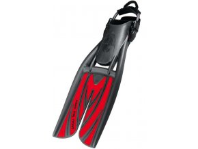 potápačské plutvy s deleným listom, Scubapro Twin Jet Max, červené