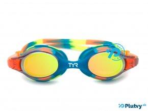 detske plavecke okuliare tyr swimple na plavanie pre deti oranzove plutvy sk