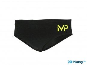 mP plavky solid black brief