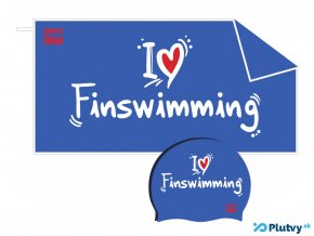plavecky set i love finswimming modry