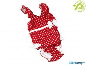 detske jednodielne plavky fashy cervene bodky