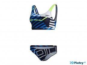 speedo summer stripe u back damske plavky