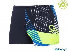 speedo all over aquashort navy boy
