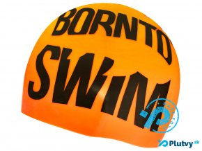 born to swim reflexna plavecka ciapka