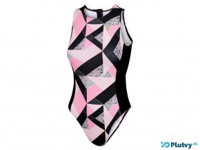 Zone3 High Neck Costume Pink