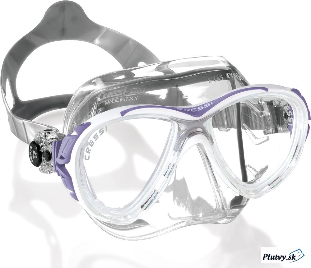 Cressi Eyes Evo Crystal Farba: bielo-fialová