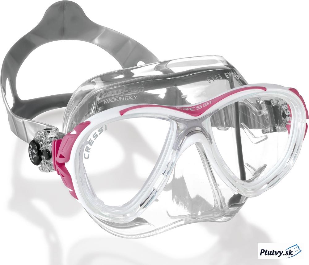 Cressi Eyes Evo Crystal Farba: bielo-ružová