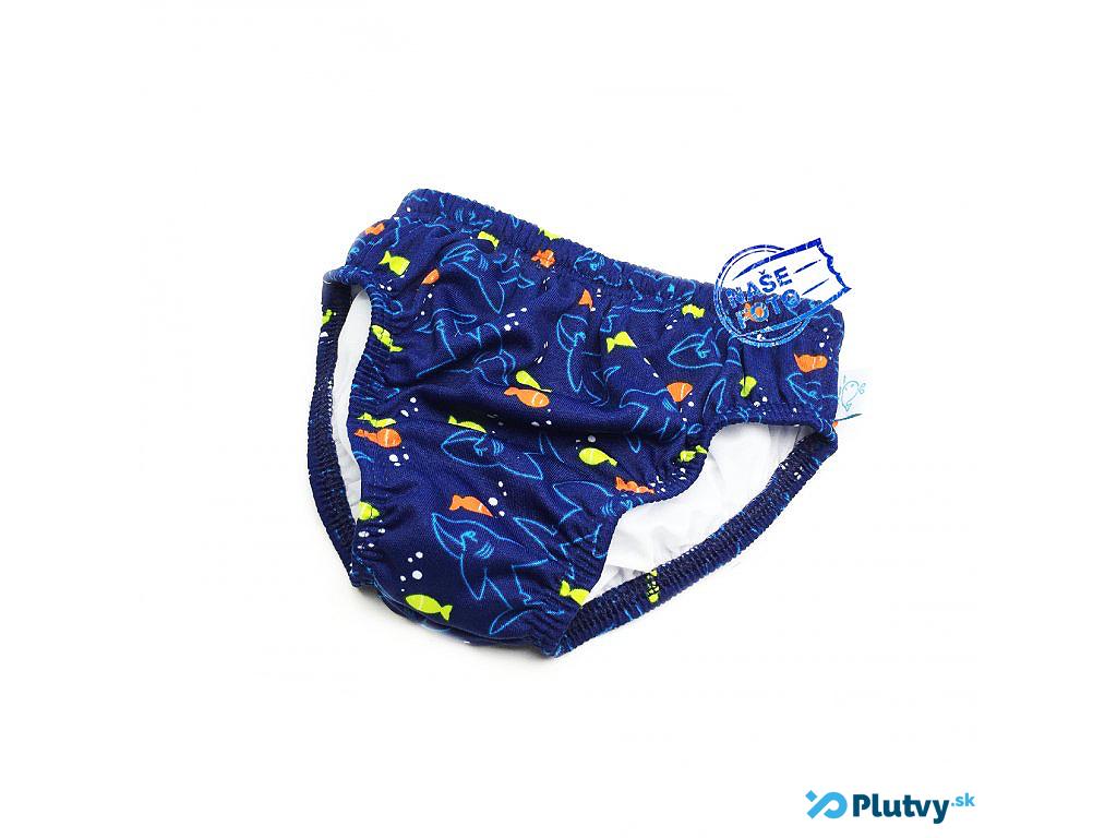 Little Stars plavky s plienkou Farba: modré s rybičkami, Veľkosť: M 74/80