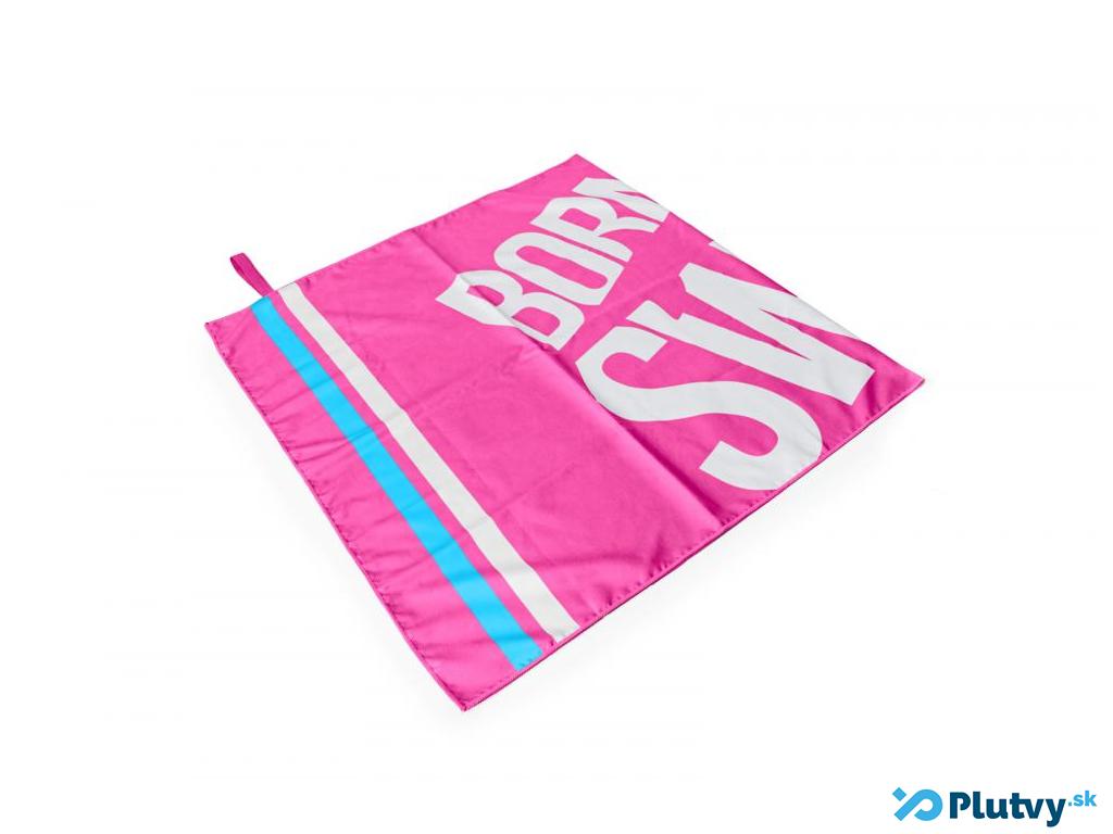Plavecký uterák BornToSwim ružový veľké logo
