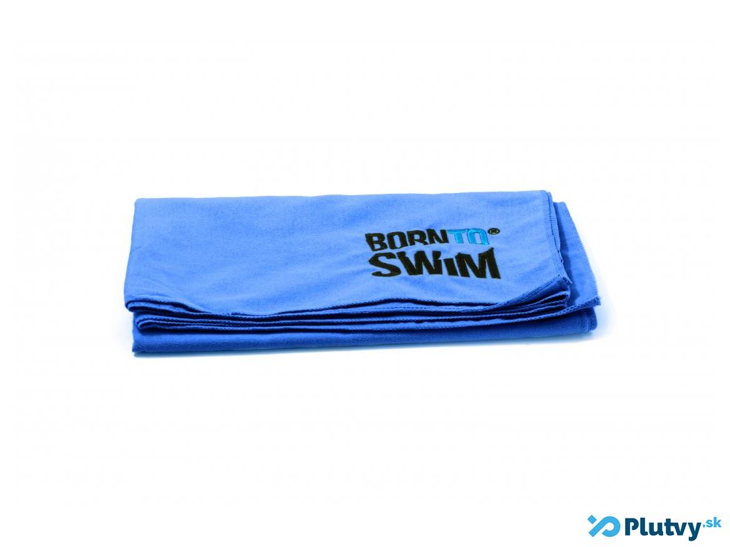 Plavecký uterák BornToSwim Farba: modrá tmavá