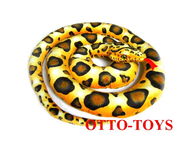 velký plyšový had zelený