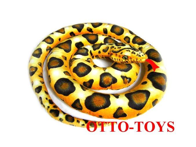 Velký plyšový had