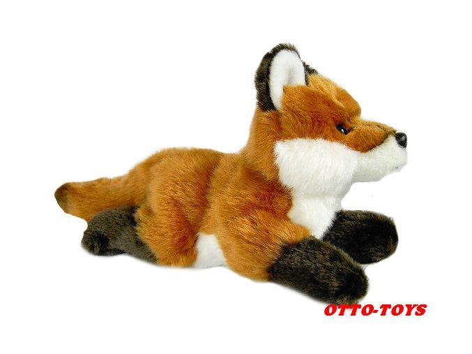 Plyšová liška ležíci