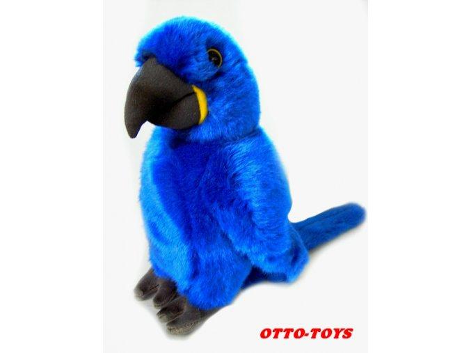 velký modrý plyšový papoušek