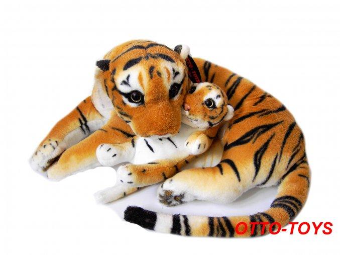 plyšový tygr hnědý s mládětem