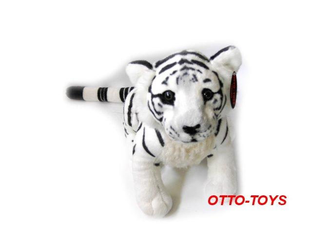 Plyšový tygr bílý sedící