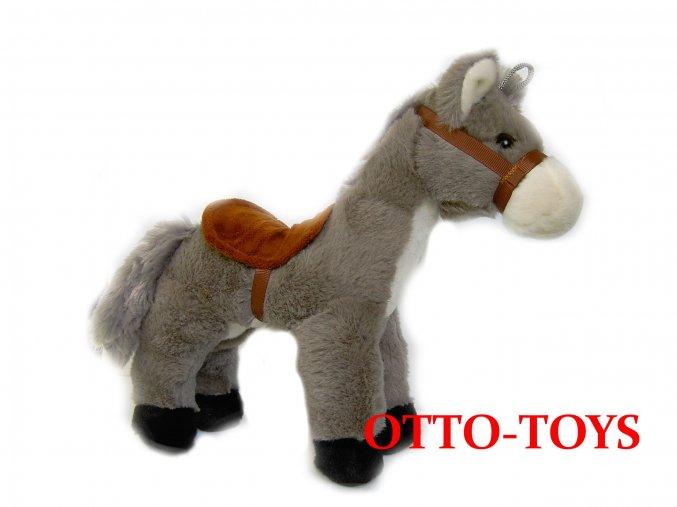 Plyšák kůň šedý