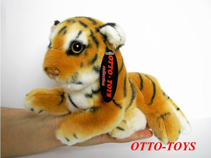 Plyšový tygr ležící 22cm