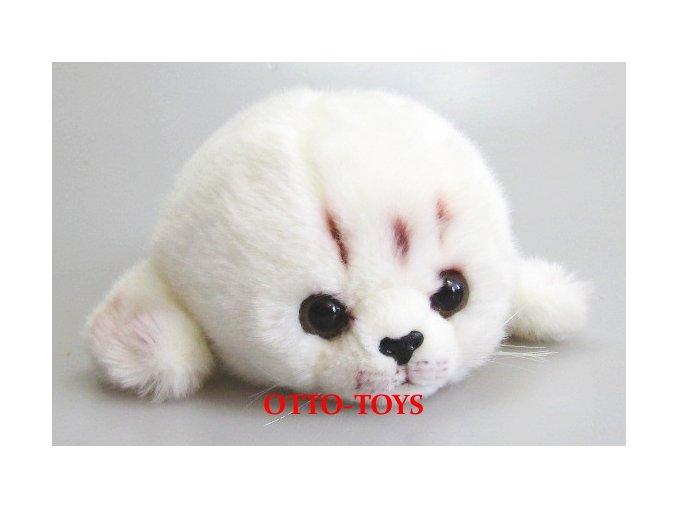 Plyšový tuleň bílý
