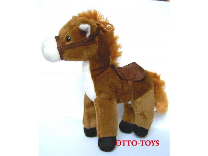 Plyšový kůň velký hnědý
