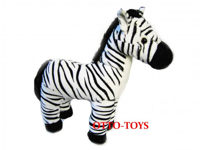 Velká plyšová zebra