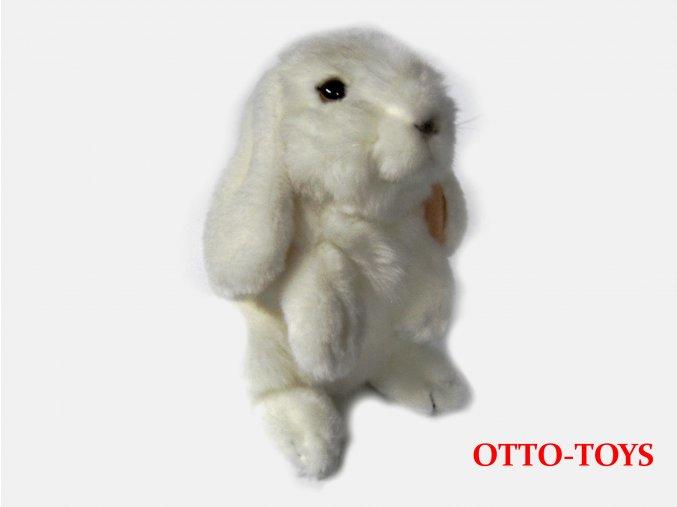 bílý plyšový králíček beran
