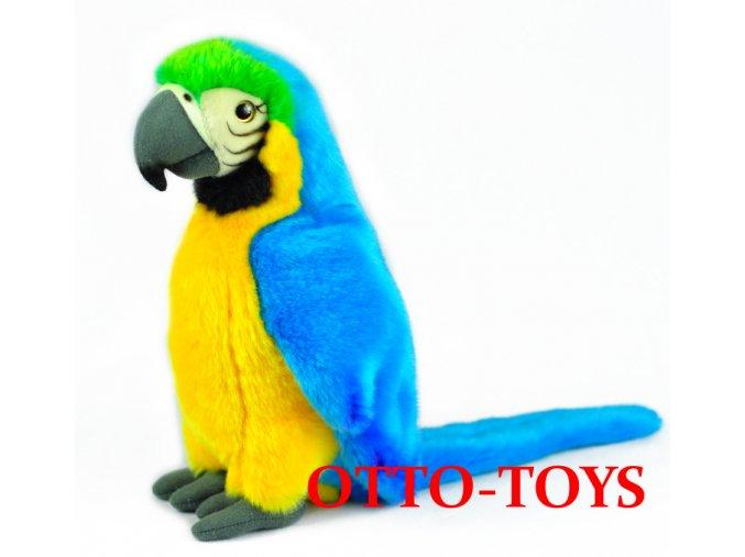 Velký plyšový papoušek