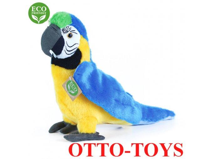 Obrovský plyšový papoušek modrý