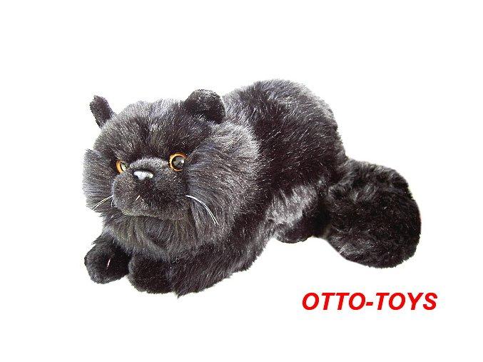 černá plyšová kočka
